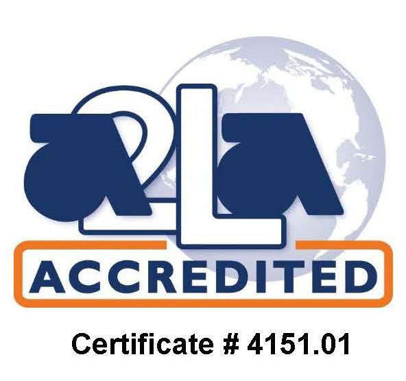 This achievement of A2LA accreditation demonstrates an organization's competence to manage and perform the activities defined by its A2LA Scope of Accreditation (A2LA Certificate 4151.01).