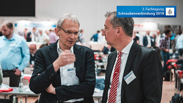 ITH president Frank Hohmann (on the right) during a technical discussion with Dr. Jürgen Rollmann, one of the well-known speakers of the conference.
