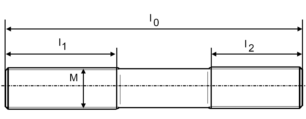 ITH stud bolt and dimensions
