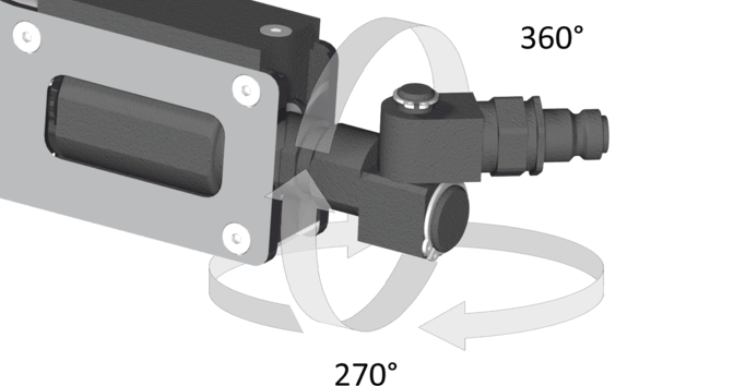 Swivel-hydraulic connection