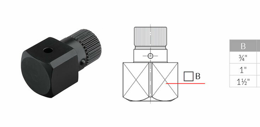 Square drive socket to adapt all existing nuts - type DRS-VE