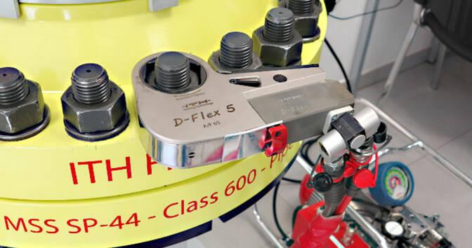 D-Flex 5 и стальной фланец MSS SP-44