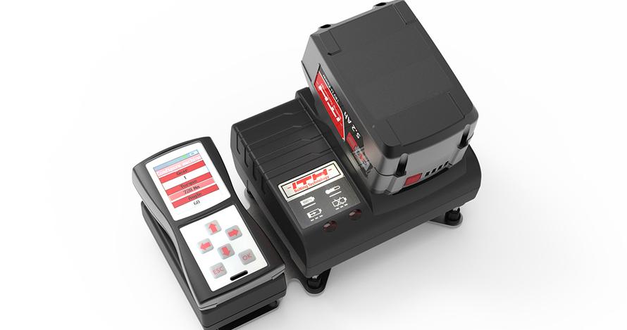 Литий-ионная аккумуляторная батарея напряжением 18 В и емкостью 5,2 А.ч с быстродействующим зарядным устройством