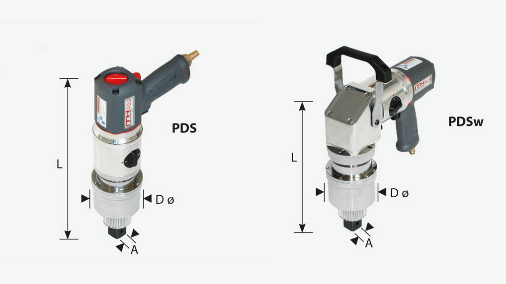 ITH pneumatic torque wrench type PDS - dimensioning