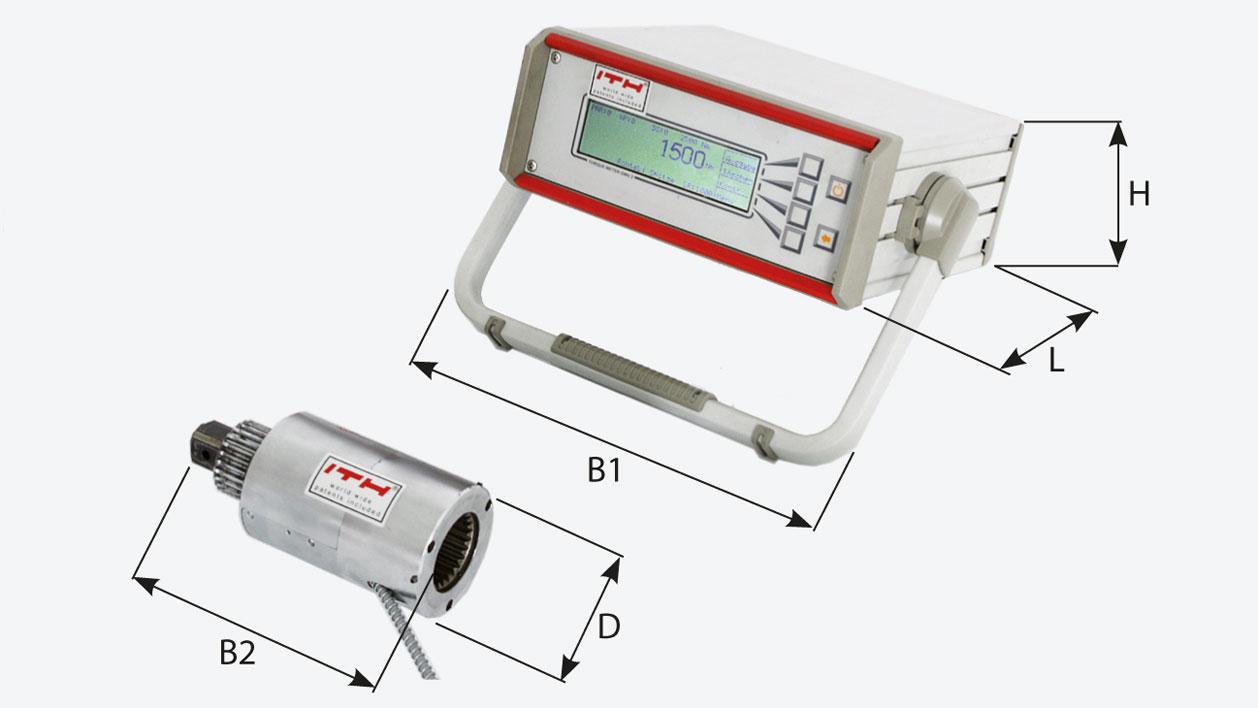 Размеры и характеристики прибора для измерения значений момента затяжки