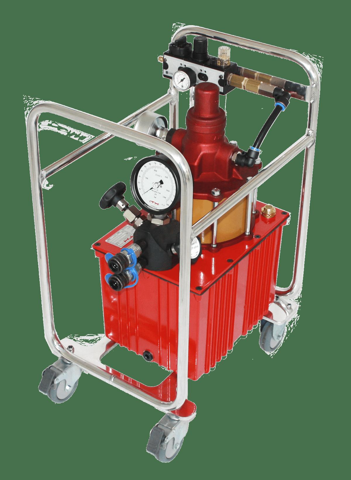 Пневматический гидравлический насос высокого давления: гидравлический агрегат ITH Aero-MAX 9