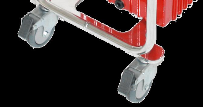 Алюминиевая рама и рабочие колеса