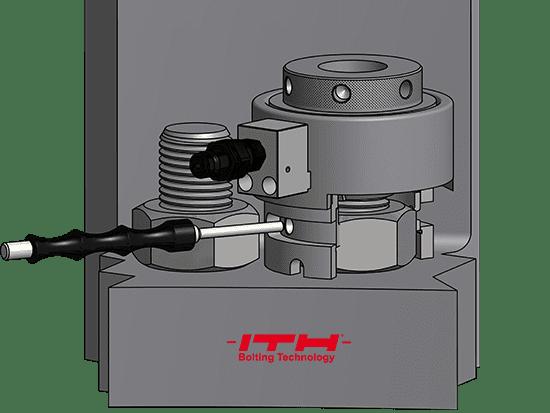Гидравлические тензорные домкраты типа SES, одноступенчатые, упрощенные